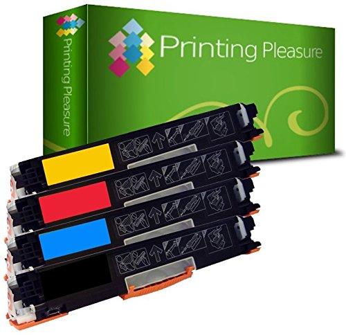 Printing Pleasure 4 Compatibles CE310A CE313A Cartuchos de tóner para HP Colour Laserjet CP1025 CP1025NW CP1020 M175a M175nw Pro 100 M175 MFP M175A M175NW M275 TopShot M275   Negro/Cian/Magenta/Amarillo, Alta Capacidad