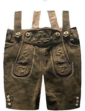 Herren Trachten Lederhose Trachtenlederhose Kurze Tracht Braun Gr.50#25