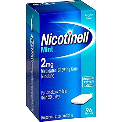 3 x Nicotinell Mint 2mg Medicated Chewing Gum Regular Strength 96 Pieces