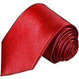 Paul Malone Weinrote XL Krawatte 100% Seidenkrawatte (Überlänge 165cm), fleckabweisend