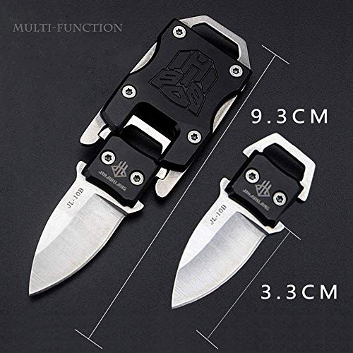 NedFoss Messer Outdoor Mini Klein EDC Taschenmesser Taschenwerkzeug Gürtelmesser (schwarz)