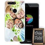 dessana Eigenes Foto Transparente Silikon TPU Schutzhülle 0,7mm Dünne Handy Tasche Soft Case für Huawei Honor 8 Personalisiert Motiv