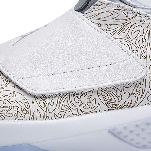 Nike Air Jordan Xx Laser, Chaussures de Handball Homme Multicolore - Blanco / Plateado (White/Metallic Silver-White)