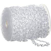 XCSOURCE Acryl Transparent Kristall Perlen Girlande Diamant Hochzeit Baum Dekoration 30M WV035