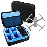 DURAGADGET Bolsa Acolchada Profesional Negra con Compartimentos e Interior en Azul clarito para Yuneec Mantis Q