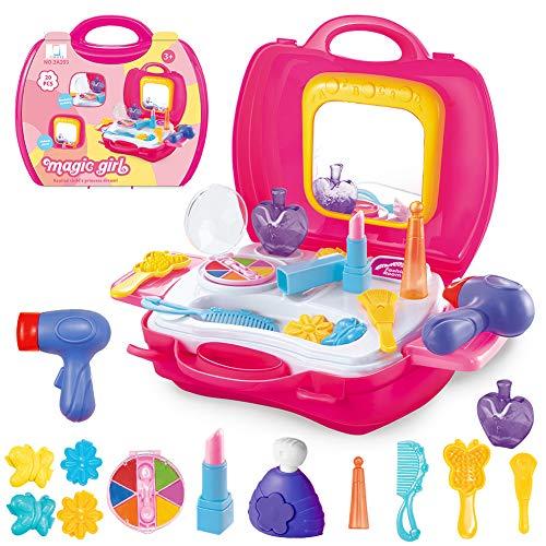 Schönheit Spielzeug Kinder Prinzessin Mädchen Schminkset Rollenspiel Set Rucksack Koffer - 20...