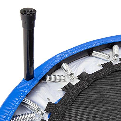 Relaxdays Fitness Trampolin, 91 cm Durchmesser, Indoortrampolin, belastbar bis 100 kg, Fitness und Ausdauertraining, blau - 4