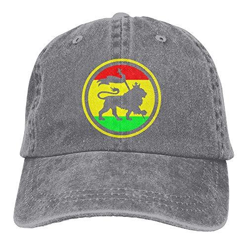 Hoswee Baseballmütze Hüte Kappe Jamaican Rasta Lion Unisex Truck Baseball Cap Adjustable Hat Sandwich Peaked Caps Sun Hat (Hüte Jamaican)