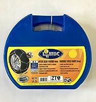 Catene da neve a rombo da 9mm specifiche per auto, montaggio rapido, istruzioni incluse. Consultare la tabella di applicabilità