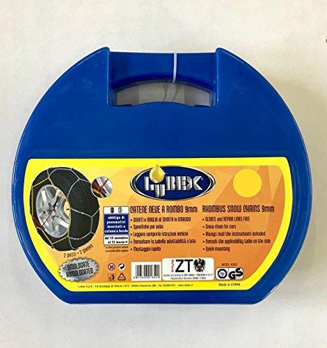 SET PER 2 RUOTE 185//55-16 COPPIA CATENE DA NEVE LUBEX 9mm MISURA 185//55 R16