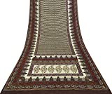 Vintage Indian Sari Mit Blumenmuster Craft Stoff Aus Reiner