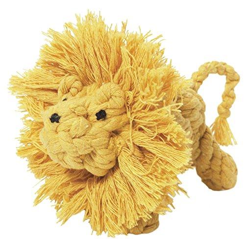 Larry der Löwe 15,2cm (15cm) großes Seil Hundespielzeug Größe: LG Farbe: Gelb (Larry Der Löwe)