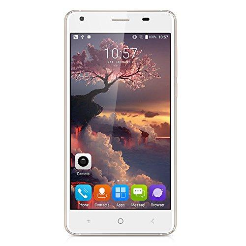 Landvo XM200 Pro Smartphone - 4G LTE Android 6.0 ( MT6737 Quad Core 1.3GHz, 5.0'' IPS HD Schermo, 2GB RAM 16GB ROM, Dual SIM, GPS, OTG, Cellulari ) Bianco