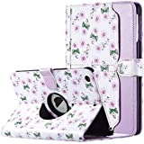 ULAK iPad mini 1/2/3 Case 360 Degree Rotating Stand Case Cover with Auto Sleep / Wake Feature for Apple iPad mini 1 / iPad mini 2 / iPad mini 3 Purple Rose