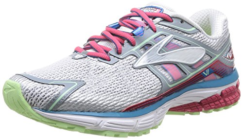 Brooks Ravenna 6 Damen halbschuhe White/Raspberry/Paradise Green