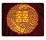 MSD Natural Rubber Gaming Mousepad IMAGE ID: 588255 Chinese wedding decor chinese art grapgic of flowers birds and a chinese word means happy in the middle
