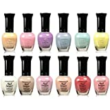 Kleancolor Collection - Beautiful Assorted Pastel Nail Polish 12pc