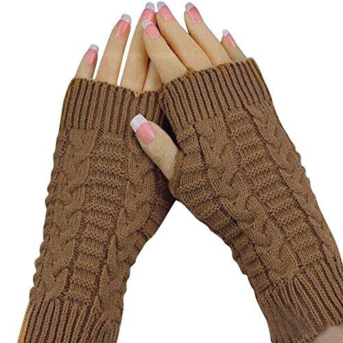 TEBAISE Handschuhe Damen für frauen Armstulpen für Halber Finger Warme Handschuhe für Frauen Armwärmer für Handy Karneval Fasching Fasnacht