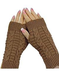 Dame Stretchy Weiche Strick Handgelenk Arm Warmer Lange Sleeve Finger Handschuhe Gestreifte Arm Wärmer Damen-accessoires Armstulpen