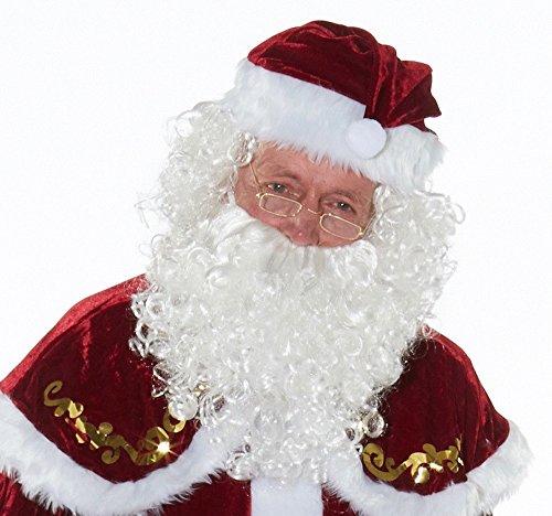 shoperama Santa Claus Perücke und Bart - Modell 1 - Nikolaus ()