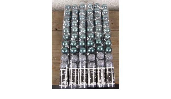 Eisblaue Christbaumkugeln.Amazon De 72 Eisblaue Christbaumkugeln 6 Stangen A12 Stück