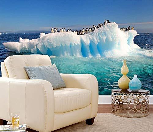 ZDBWJJ Personalizar Grupo de pingüinos en 3D Isla de los glaciares del mar...