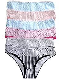 LisaModa Mädchen Panties 6er Pack Unterhose Farbmix