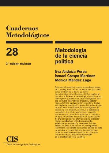 Metodología De La Ciencia Política, 2ª Ed (Cuadernos Metodológicos) por Eva Anduiza Perea