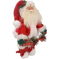 WeRChristmas Standing Santa Christmas Decoration - 30 cm, Red/White