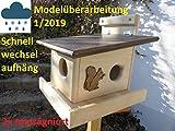 Arbrikadrex XXXL Echhörnchen Kobel/Futterhaus aus hochwertigem Vollholz, deutsches Qualitätsprodukt vom Schreiner wahlweise Imprägniert oder naturbelassen (Eichörnchenkobel imprägniert)