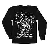 Officially Licensed Merchandise Gas Monkey Garage - Dallas Texsas Long Sleeve Tee (Black), XX-Large