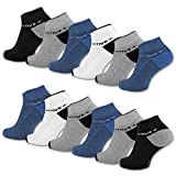 sockenkauf24 6 oder 12 Paar SPORT Sneaker Socken mit verstärkter Frotteesohle Herrensocken Sportsocken - 16210 (43-46, 12 Paar | Farbmix)