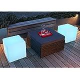 Gowe 60cm 100% irrompible LED muebles mesa silla/de tamaño grande Magic Dic LED remoto Controll cuadrado Cubo luminoso luz para exteriores