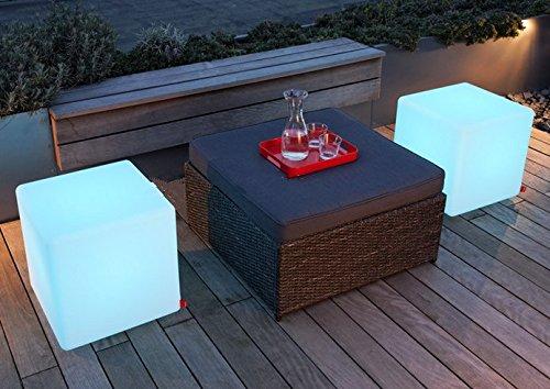 Gowe 60 cm 100% incassable LED meubles Grande table de chaise/Magic DIC LED à distance Controll carré Cube lumineux lumière pour l'extérieur