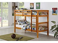 Novaro PINEWOOD Antique Pine Bunk Bed, Two Sleeper, Quality Solid Pine BUNK BED