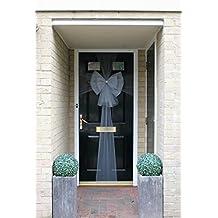 Christmas Door Bow Deluxe - Silver with Diamante Centre  sc 1 st  Amazon UK & Amazon.co.uk: Love Door Bows