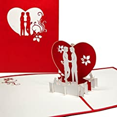 Idea Regalo - 'Pop Up della carta kissing Boys–3d in carta Gay Love–schwule Amore, Gay Valentine, Gay Greeting Card Boys in Love, biglietto di San Valentino 3d, matrimonio carta schwule matrimonio, Gay Wedding
