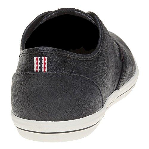 JACK & JONES Jfwspider Pu Sneaker Anthracite, Scarpe da Ginnastica Basse Uomo Nero