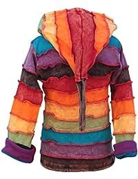 Shopoholic Moda Niños Stonewashed Hippie Rainbow Sudadera con Capucha