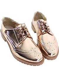 Amazon.fr   Or - Derbies   Chaussures femme   Chaussures et Sacs 7729ab0ef255