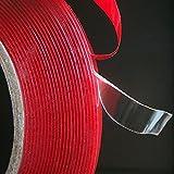 1 rouleau de ruban adhésif - En mousse - Double-face - 8 mm de large - Pour une voiture ou la maison - Forte adhésion - 3 m