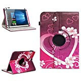 Xido Z120 Z110 X111 X110 Tablet Tasche Schutzhülle hochwertiges Kunstleder Hülle Standfunktion 360° Drehbar Cover Universal Case, Farben:Motiv 2