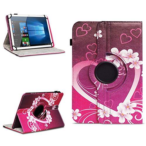 NAmobile Tablet Schutzhülle für Acepad A140 A121 A101 A96 aus hochwertigem Kunst-Leder Hülle Universal Tasche Standfunktion 360° Drehbar Farbauswahl, Farben:Motiv 2