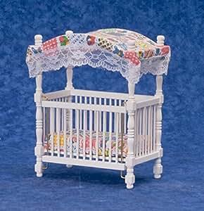 Puppenhaus Miniatur 1:12 Kinderzimmer Baby Möbel Patchwork
