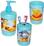alles-meine.de GmbH 3 tlg. Badset - Zahnputzset _  Disney Winnie The Pooh  - Seifenspender + ZAH..