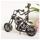 GWModel Oldtimer Motorrad Modell Handarbeit Eisen Kunst Antike Modell Fahrzeug Sammlung Home Desktop Retro Metall Deko Kreative Persönlichkeit Ornament Hochwertige Geschenk, B