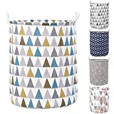 HOKIPO® Folding Laundry Basket for Clothes, Round Collapsible Storage Basket - Large 43 LTR (AR2539)