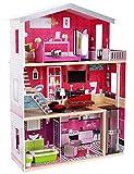 Puppenhaus MOLLY, Puppenhaus, Puppen Set, Holzspielzeug, Holzmöbel, Spielzeug Kinderzimmer