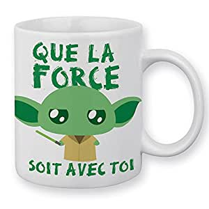 "Mug Yoda "" Que la force soit avec toi "" (Star Wars) Chibi et Kawaii by Fluffy Chamalow - Chamalow Shop"