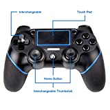 PS4 Controller, Sades C200 Bluetooth Gamepad Six axies DualShock 4 Wireless Controller für Playstation 4, Touch Panel Joypad mit Dual Vibration